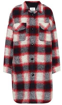 Etoile Isabel Marant Isabel Marant, Étoile Gario checked wool-blend coat
