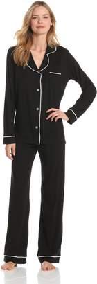 Cosabella Women's Amore Pajama Set, Black/Ivory