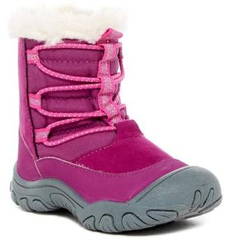 M.A.P. Coraline Faux Fur Trimmed Lace Boot (Toddler & Little Girls)