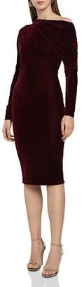 Reiss Elsa Draped Velvet Dress