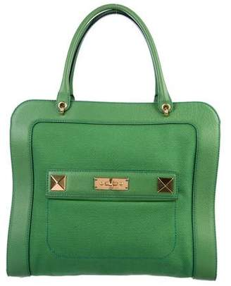 Marc Jacobs Leather-Trimmed Canvas Tote