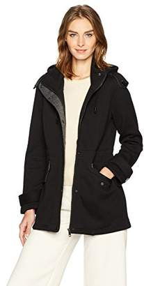 Sebby Collection Women's Fleece Anorak Jacket with a Hood