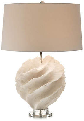 John-Richard Collection Rustic Spiral Table Lamp - White