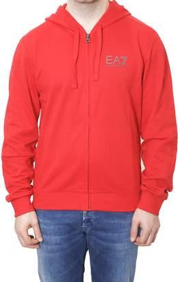 Emporio Armani Hooded Cotton Sweatshirt