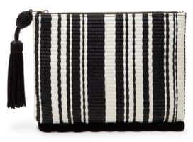 Sam Edelman Tia Striped Woven Clutch