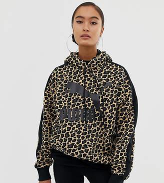 Puma oversized cheetah print hoodie
