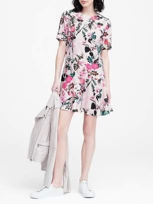 Banana Republic JAPAN EXCLUSIVE Botanical Print Drop-Waist Dress