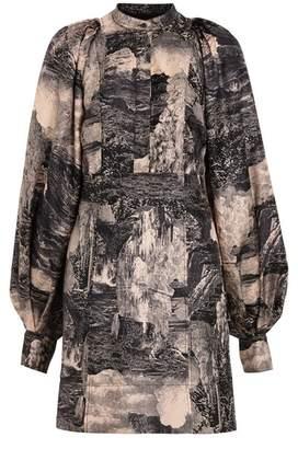 Burberry Dreamscape Print Silk Shirt Dress