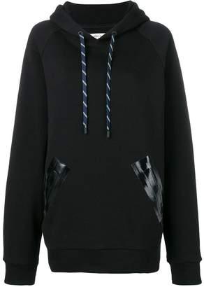Maison Margiela varnished pocket hoodie