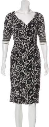 Dolce & Gabbana Lace Print Midi Dress