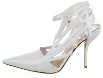 Christian Dior Pointed-Toe Ankle Strap Pumps