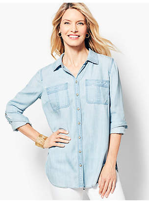 Talbots Tencel Denim Shirt