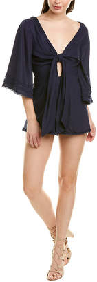 Finders Keepers Fifth Label Limoncello Linen-Blend Playsuit