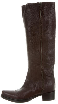 Miu Miu Miu Miu Leather Riding Boots