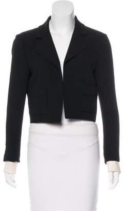 Chanel Cropped Silk Blazer