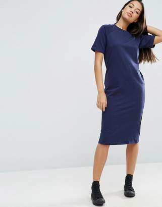 ASOS Midi Lightweight Sweat T-Shirt Dress $31 thestylecure.com