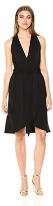 Halston Women's Halter Belted Wrap Dress
