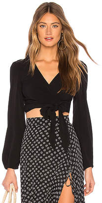Flynn Skye Long Sleeve That's A Wrap Crop Top