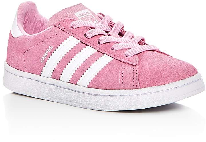 adidas Girls' Campus Suede Lace Up Sneakers