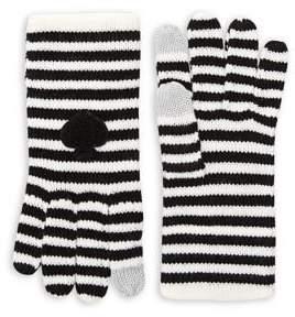 Kate Spade Striped Spade Gloves