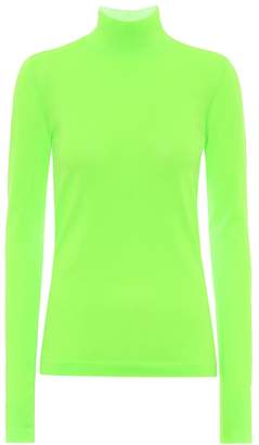 Les Rêveries High-neck jersey top