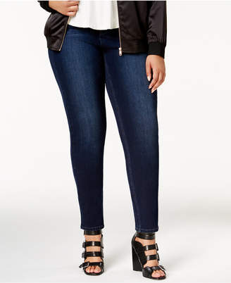 Seven7 Jeans Trendy Plus Size Tummy-Less Skinny Jeans