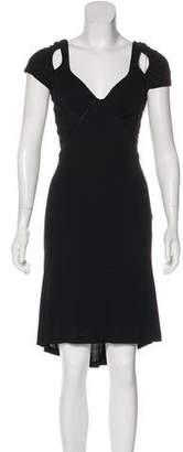 Zac Posen Short Sleeve Midi Dress