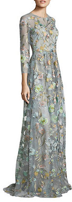 Marchesa Notte Sleeveless Floral Embellished Gown $1,195 thestylecure.com