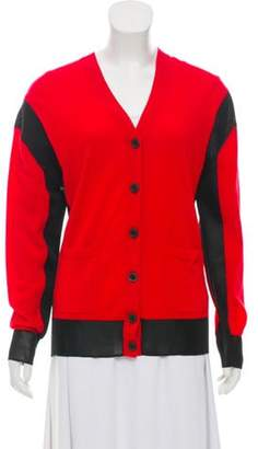 Sonia Rykiel Wool Knit Cardigan w/ Tags Red Wool Knit Cardigan w/ Tags