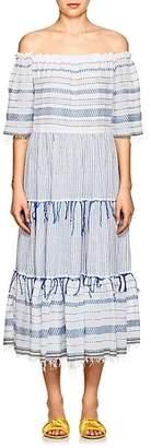 Lemlem Women's Tiki Striped Cotton Maxi Dress - Lt. Blue Str
