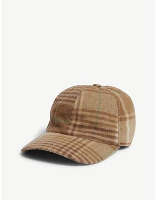 Ralph Lauren Purple Label Check cotton-cashmere cap