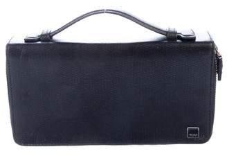 Tumi Leather Travel Zip-Around Organizer