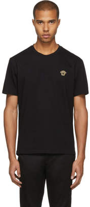 Versace Black and Gold Medusa Head T-Shirt