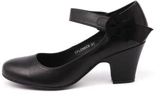 Django & Juliette Splendid Black Shoes Womens Shoes Dress Heeled Shoes