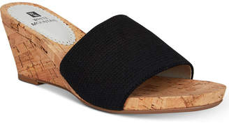 White Mountain Aleah Slide Wedge Sandals Women's Shoes