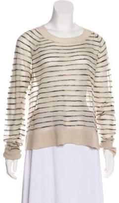 A.L.C. Striped Long Sleeve Blouse