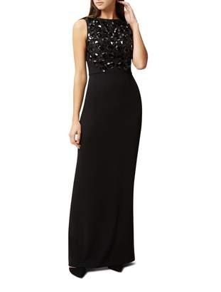 Hobbs Black Embellished 'Deborah' Full Length Maxi Dress