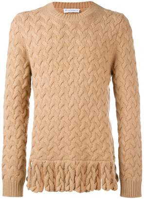 J.W.Anderson fringe chunky sweater