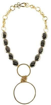 Stephanie Kantis Pyrite Contempo Necklace