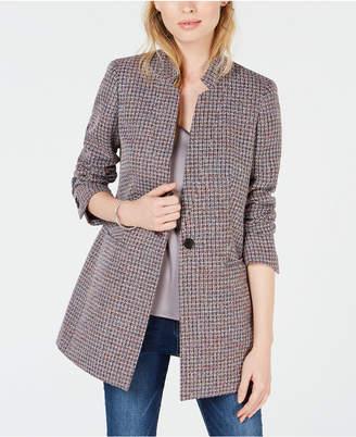 Bar III One-Button Tweed Blazer, Created for Macy's