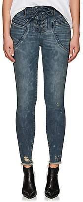 Icons Women's Valhalla Lace-Up Skinny Jeans - Blue