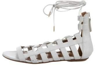 Aquazzura Leather Gladiator Sandals