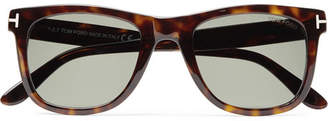 Tom Ford Leo D-Frame Tortoiseshell Acetate Polarised Sunglasses - Tortoiseshell