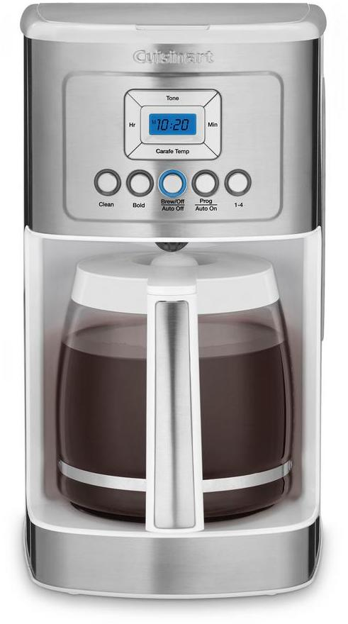 Cuisinart PerfecTemp 14-Cup Programmable Coffee Maker, White