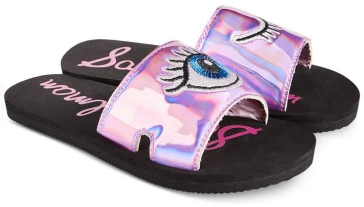 Sam Edelman Eli Patch Slide Sandals, Little Girls (11-3) and Big Girls (3.5-7)