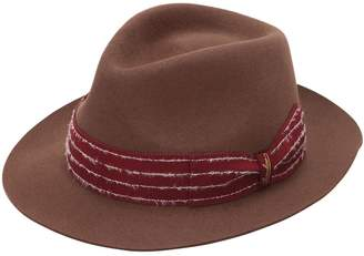 Borsalino Fur Felt Hat W/ Embroidered Hat Band