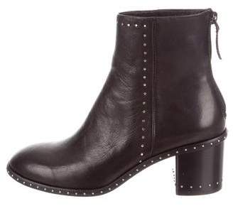 Lola Cruz Studded Leather Ankle Boots