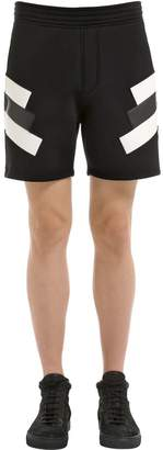 Neil Barrett Neoprene Intarsia Eco Leather Shorts