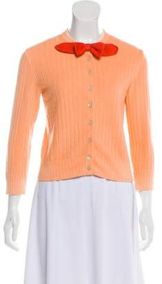 Marc Jacobs Bow-Accented Cashmere & Silk Cardigan