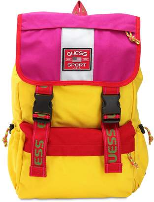 GUESS California Style Nylon Canvas Backpack